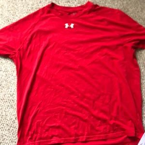 Red Under Armour performance t shirt